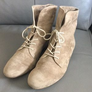 Paul Green Suede Lace Up Booties
